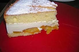 käsesahne torte mit pfirsichen