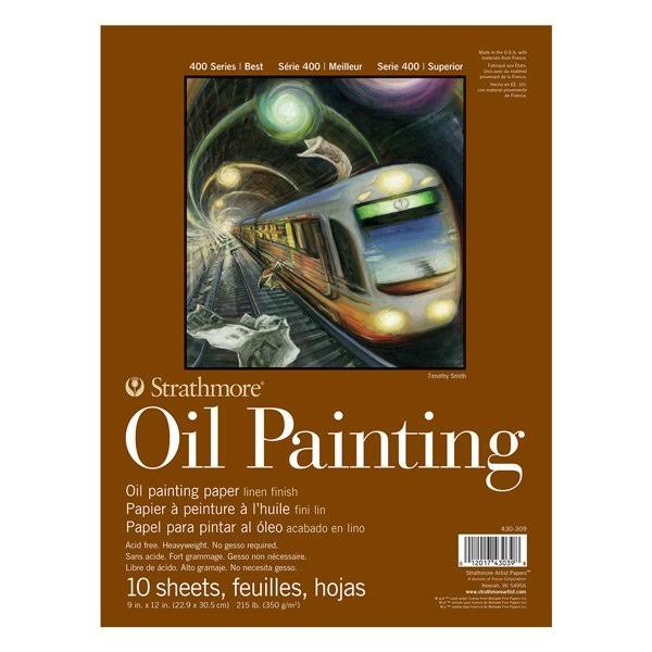 "Strathmore 400 Series Oil Painting Pad 9""X12"" 10 Sheets"
