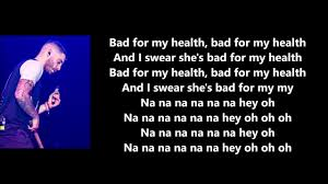 100 2 Rocking Chairs Jon Bellion Lyrics Bad For My Health YouTube