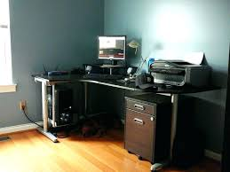 Black Gloss Corner Computer Desk by Black Gloss Corner Desk Black Glass Computer Home Office Desk