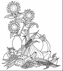 Impressive Fall Harvest Coloring Pages With Color And Leaves