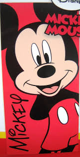 Mickey Mouse Bathroom Images by Mickey Mouse Red Beach Bath Towel Amazon Co Uk Kitchen U0026 Home