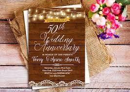 Rustic Wedding Anniversary Invitation 25th Invite 40th 50th Invites