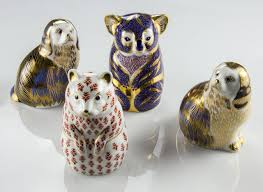 Royal Crown Derby Collection Of 18 Porcelain Figurines England For ... Winter Owl Paperweight Royal Crown Derby Collection Rspb Shop A Large Prestige Edition Paperweight Long Eared The Barn Gift 91papbox62729_07jpg Lot 250 Printed Mark Colctables Exclusive Collections Robin Happy Birthday Bear A Beswick Owl 1046 2 Porcelachina Pottery Porcelain Glass