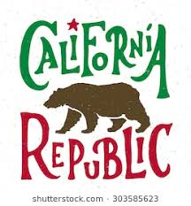 Hand Lettered California Republic Apparel T Shirt Fashion Design Walking Grizzly Bear Graphic Typographic