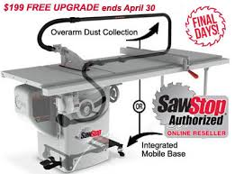 Cabinet Table Saw Mobile Base by Video Free Sawstop Overarm Dust Collection Or Mobile Base