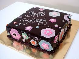 Chocolate Birthday Cake With Flowers Bearylicious Cakes Chocolate Mousse Cake With Chocolate Flowers