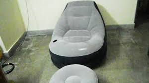 intex lounge relaxing inflatable air sofa youtube