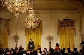 Obama Muslim Prayer Curtain by President Obama First U S President To Hold Press Conference With