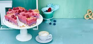 himbeer heidelbeer torte mit joghurt