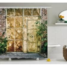 Berau Rustic Brick House Shower Curtain