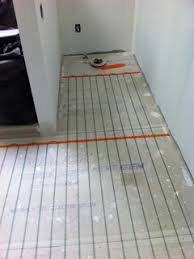 there are two basic types of heated flooring electric radiant