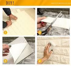 White Color 3D Brick PE EVA Foam Wallpaper Wall Panels