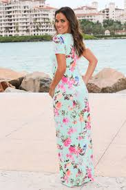 mint floral maxi dress with short sleeves maxi dresses u2013 saved
