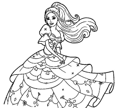 Doll Dress Colouring Page Coloring