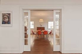 The Pocket Sliding French Doors Between Living Room And Dining Are A Great Touch Contribute To Clean Lines That Mark Interior Of