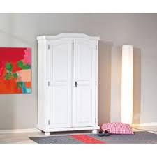 armoire chambre blanc hedda penderie chambre meuble tag res 2 portes bois massif