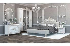 italienisches barock schlafzimmer medea in beige 6 teilig