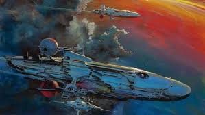 Artwork Spaceship Space Concept Art Fantasy Vintage HD Wallpaper Desktop