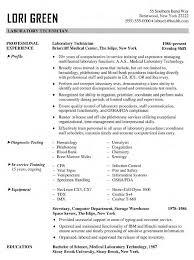 Resume Templates Lab Technician ResumeTemplates