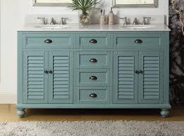 60 Inch Bathroom Vanity Single Sink Top by 60 Inch Bathroom Vanity Coastal Cottage Beach Style Blue Color 60