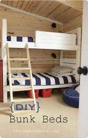 bunk beds made from scrap wood
