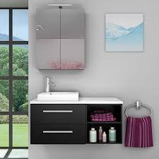 badmöbel set city 205 v1 esche schwarz badezimmermöbel waschtisch 100 cm 16989 ohne spiegelschrankbeleuchtung