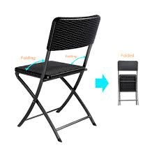 IKayaa 2PCS Portable Outdoor Garden Patio Folding Chairs - LovDock.com