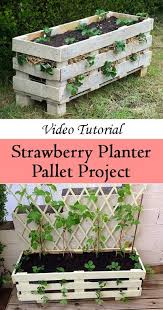 Youve Seen Pallet Projects Before But This One Is Simple Relatively Quick And Results In A Planter That You Can Use To Grow Strawberries Veggies