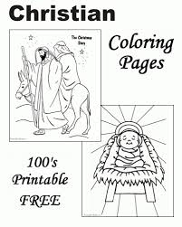 Christian Christmas Coloring Pages Printable