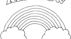 Free Rainbow Coloring Pages With Printable Colouring