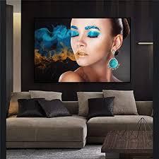 wandbilder wohnzimmer modern mode frauen gesicht leinwand