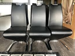 6x esstischstühle schwarz chrom leder stühle esszimmer