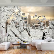 details zu vlies fototapete steinwand steinoptik new york tapete wohnzimmer wandbilder