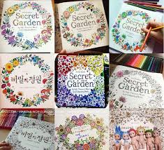 2015 Full Set Of Kids Secret Garden Fantasy Dream Enchanted Forest Art Coloring Book Children Adult