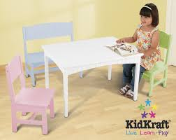 Kidkraft Heart Kids Table And Chair Set by Amazon Com Kidkraft Nantucket Table With Bench And 2 Chairs