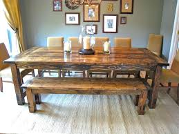 Unique Dining Room Tables Peaceful Design Farm Style Table Bold Farmhouse With Single Bench And Six