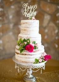 Semi Naked Cake Golden Topper Rustic Chic Romance Virginia Ann