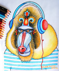 This Mandrill Was Colored With Prismacolor Pencils Click To Enlarge