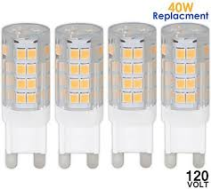 luxrite lr24620 4 pack 3 7w led g9 pin base light bulb 40w