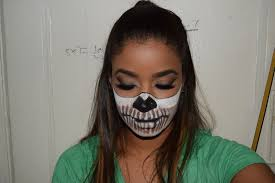 Halloween Silicone Half Masks by Half Face Mask Skull Promotion Shop For Promotional Half Face Mask