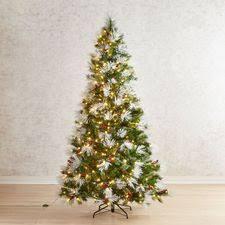 75 Flocked Tip Full Pre Lit Artificial Christmas Tree