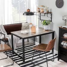 vasagle küchentisch esstisch 120 x 75 x 75 cm esszimmertisch für 4 personen kaffeetisch stahlgestell einfacher aufbau industrie design