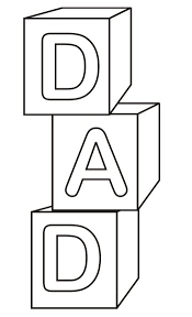 DAD Blocks Fathers Day Coloring Pages