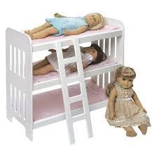 Badger Basket Triple Doll Bunk Bed with Ladder Tar