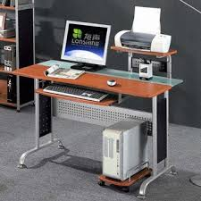 Desk Cpu Holder by China Deluxe Modern Tempered Glass Computer Desk With Cpu Holder