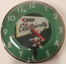 big red antique clock old vintage soda pop beverage advertising