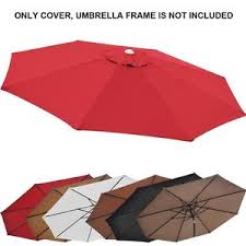 Market Umbrella Replacement Canopy 8 Rib by 11 5ft Patio Umbrella Cover Canopy 8 Rib Replacement Top Outdoor
