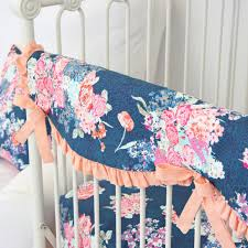 charlie s coral navy floral baby bedding swatch kit caden lane
