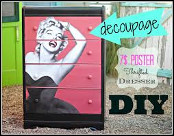 How To Decoupage Furniture With A 7 Poster CeCe Caldwell Paint And Thrift Store Dresser